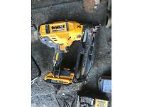 Dewalt 2nd fix nail gun with 2 x 2amp batteries