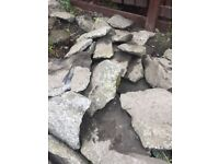 Over 100 robust Granite garden rocks for sale at bargain price