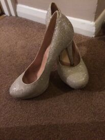 Party glitter shoes size 6 From next a few scratches on heel but still loads of wear left