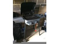 Gas BBQ with 2 burners and a side hob burner