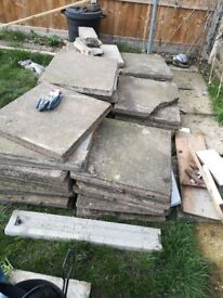 SOLD paving slabs collection only £40