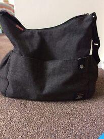 Babymel tweed grey changing bag
