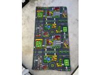 Large kids toy car play mat rug