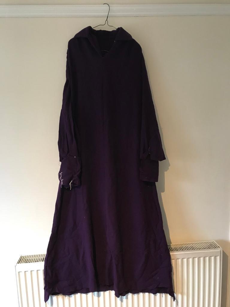 Sewing project - vintage 70s purple wool dress