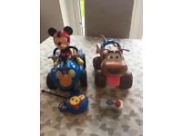 Remote control Mickey Mouse and Dog vehicles
