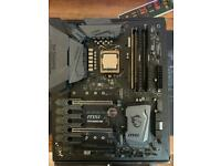Cpu, ram and motherboard bundle. Intel i7 8700k,Corsair vengeance lpx 16gb 3200mhz and Msi z370 mobo