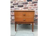 Vintage Retro Teak Bedside Cabinet Side Table