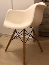 Dawood Chair White Modern Chair