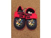 New- Fireman slippers- size 4