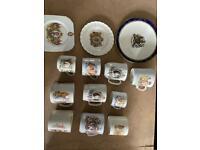 Royal memorabilia 10 cups and 3 plates
