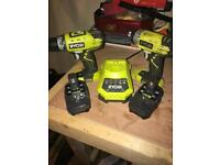Ryobi One+ Impact drill & 2 speed drill set OPEN TO OFFERS