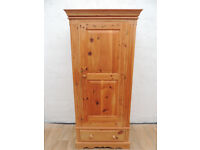 Welsh pine wooden wardrobe with key (Delivery)