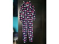 *BARGAIN* HOUSE CLEARENCE pijama like NEW Jumpsuits KEEP COSY size 8/10 love heart blue pink white