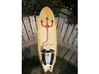 Fish / Hybrid surfboard deck 6' summer fun rocket