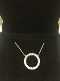 Pandora necklace, ring & charm