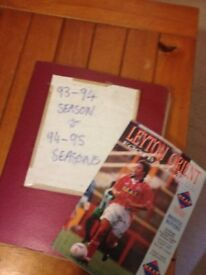 30 X Leyton orient programmes from seasons 1993-1994 + 1994-1995 autographs £5 FOR THE LOT!!!