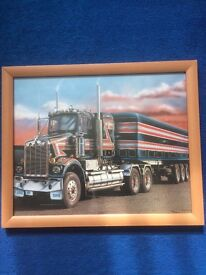 American big rig picture frame