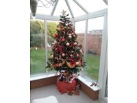6' Artificial Xmas Tree plus Decorations