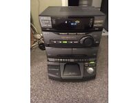 large sony hifi with 5 disc cd player