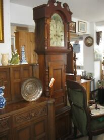 ANTIQUE GEORGIAN 8 DAY LONG CASE / GRANDFATHER CLOCK