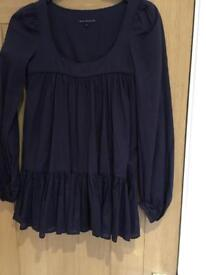 French connection loose navy top size 6