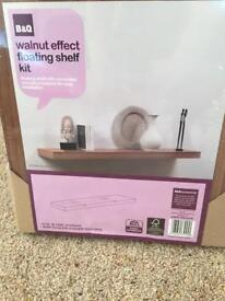 Walnut Effect Floating Shelf - new
