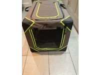 Travel crate for a large dog