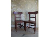 Late 19th Century Pair Of Irish Pine Carpenter's Chairs