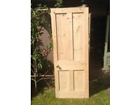 Internal pine door - stripped