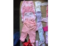Girls size 0-3 months clothing bundle