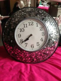 Mosaic Mirror Wall Clock