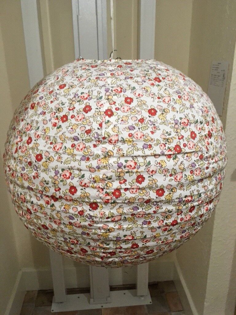 Floral pendant lampshade, new