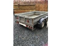 Big double axles trailer for sale