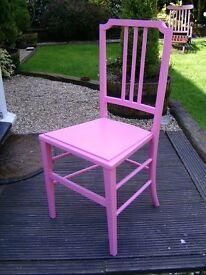 Bedroom/ nursery chair in pink