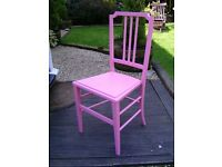 Bedroom/ nursery chair in pink