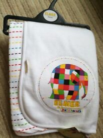 Brand new with tags Elmer baby blanket