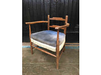 Cute Vintage Wooden Child's Armchair - Antique