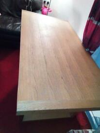 Solid wood table with no chairs