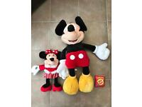 Large Micky Mouse & Minnie Mouse Plush Toys