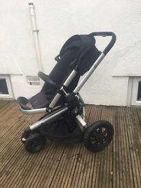 Quinny Buzz Xtra Pushchair (black)comes with foot muff, rain cover, sun visor, quinny umbrella,
