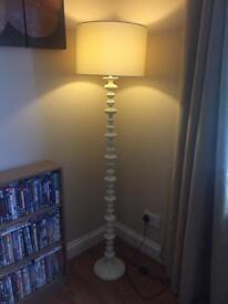 Tall Cream Lamp