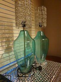 2x designer lamps