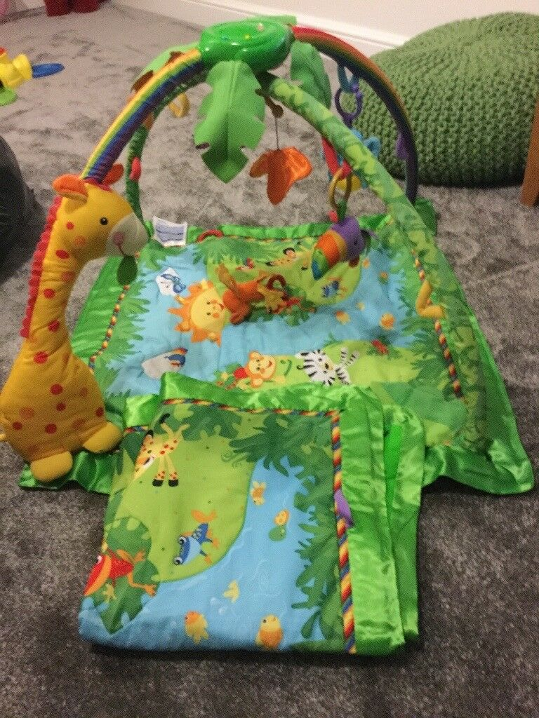 Fisher price rainforest baby gym and 2 playmats