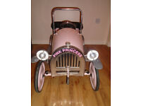 Pink Pedal Car Childrens - Wonderful Christmas Present - Brilliant condition - Suit age 3-5 years