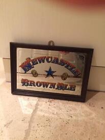2 x Newcastle brown ale mirrors