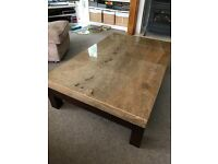 Marble top coffee table very large