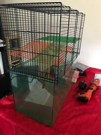 Animal cage (for gerbils, hamsters, etc )