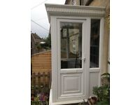 White UPVC Traditional Style Porch