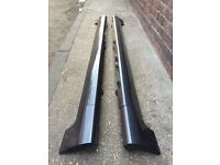Ford Fiesta ST SIDESKIRTS with JACK POINT COVERS Sea Grey (02 - 08) Zetec S Breaking Spares mk6