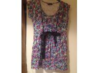 Dorothy Perkins multi colour tunic size 16